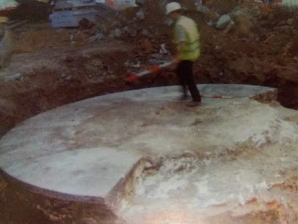 remodelation works of Plaza de las Cortes during the find of Cervantes Capsule Time