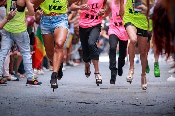 Heel Shoes races Madrid Pride