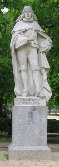 Carlos_II_de_España - Estatuas reyes plaza de oriente