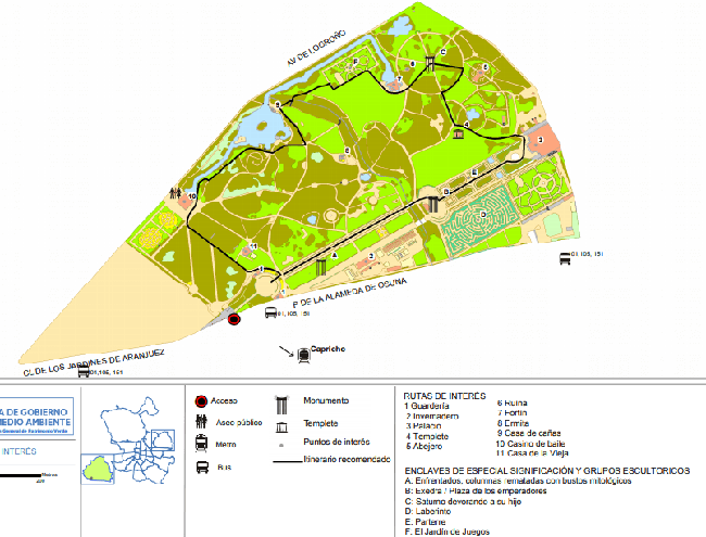 Mapa de El Parque del Capricho