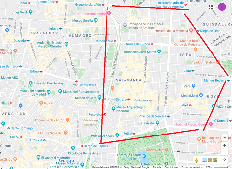 Barrio de Salamanca - Map
