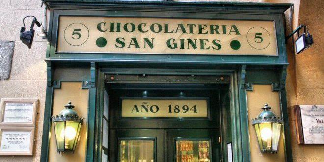Entrada Chocolatería San Gines